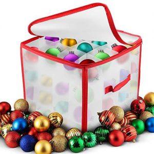 Scatole per conservazione decorazioni natalizie